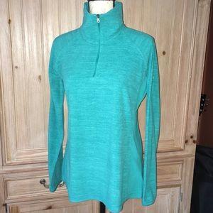 Columbia Long Sleeve Partial Zip Green Fleece Sz L